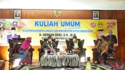 Herman Deru Beri Kuliah Umum di Universitas Baturaja