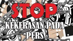 Ilustrasi Stop Kekerasan pada PERS-Wideazone