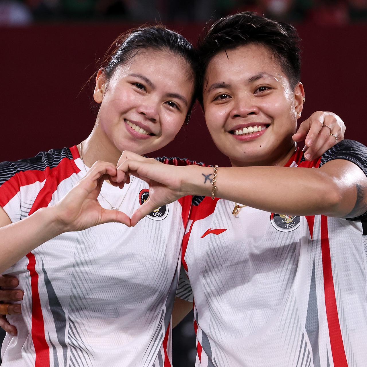 Pasangan ganda putri bulutangkis Indonesia, Greysia Polii dan Apriyani Rahayu (sumberf oto: Olympics.com)