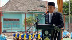 Bupati Ogan Ilir Panca Wijaya Akbar menghadiri acara pemberian Remisi (pengurangan masa tahanan) yang berlangsung di halaman Lembaga Pemasyarakatan Kelas II A, Tanjung Raja, Selasa (17/8/2021).