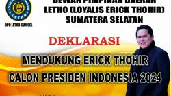 Loyalis Erick Thohir Sumatera Selatan (Letho Sumsel)