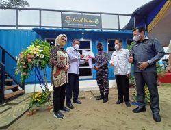 Lanal Palembang Bersama PT Pusri Resmikan Rumah Pintar