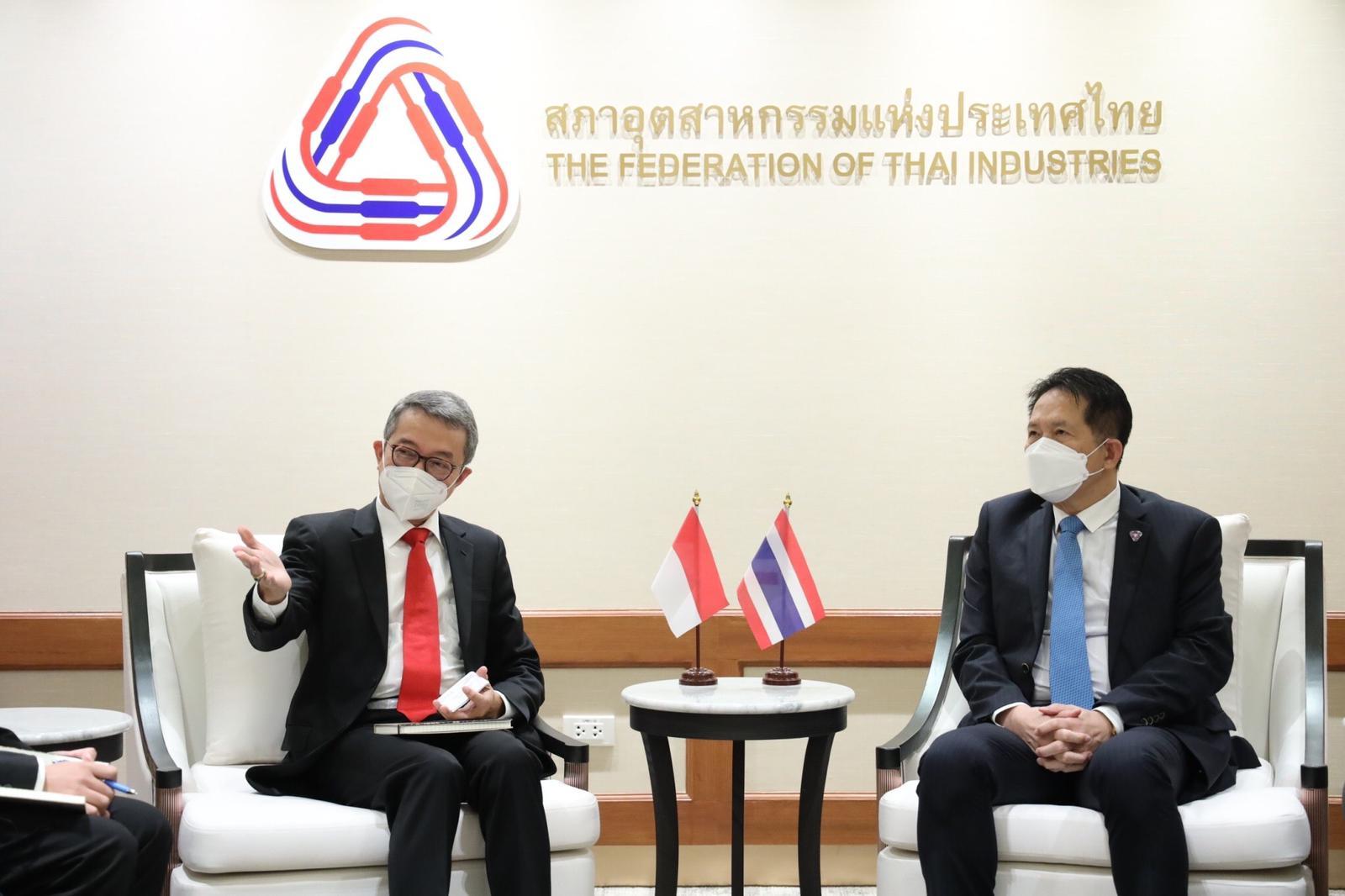 Pertemuan Duta Besar Indonesia untuk Thailand, Rachmat Budiman bersama Ketua Federation of Thai Industries (FTI)