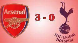 Arsenal Jebol Gawang Tottenham 3-0