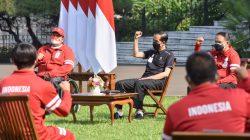 Presiden Joko Widodo saat menerima kontingen Indonesia yang berlaga di Paralimpiade Tokyo 2020, di Istana Bogor, Jabar, Jumat (17/09/2021) pagi. (Foto: Humas Setkab/Jay)