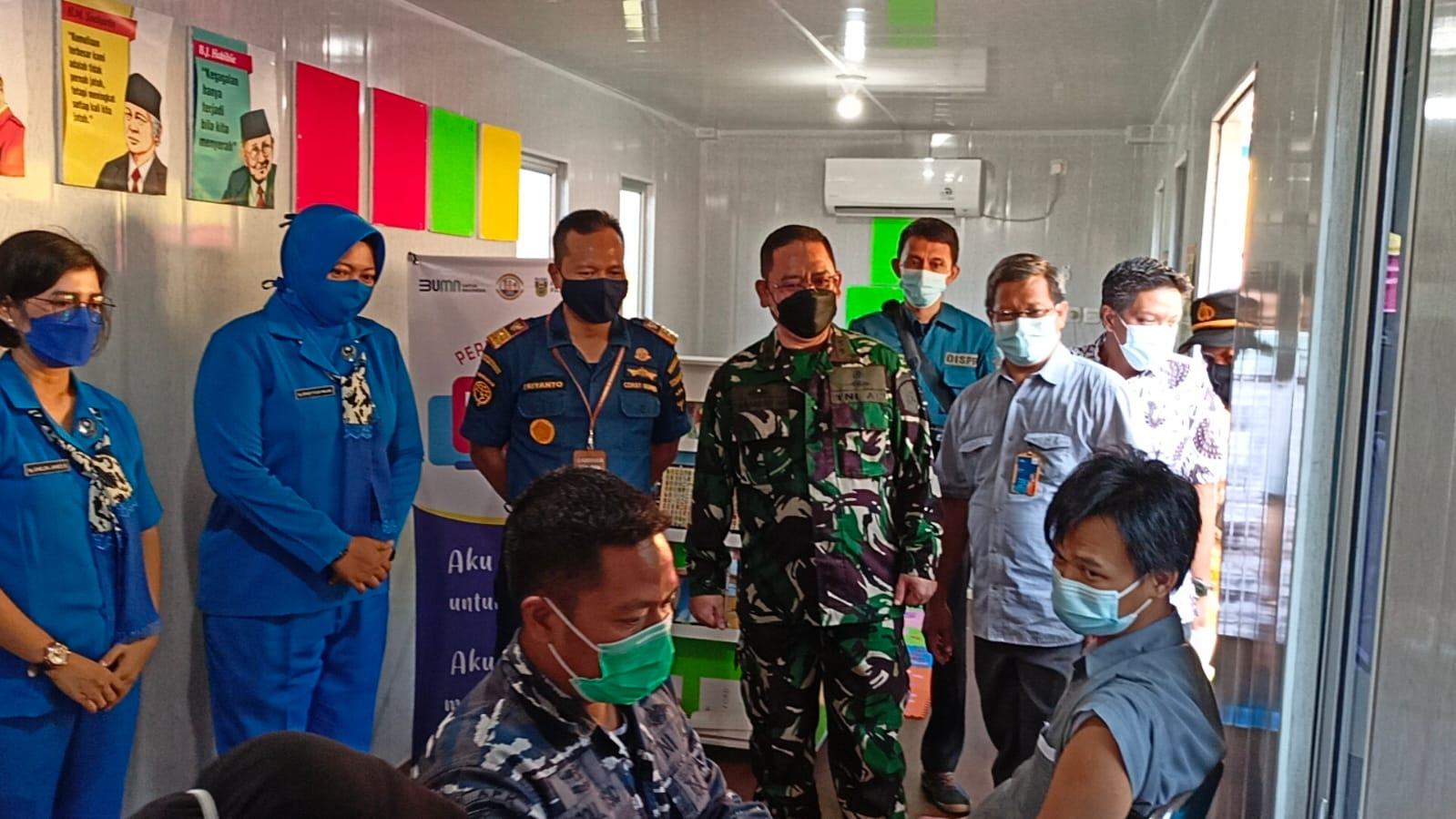 Jelang HUT 76, Lanal Palembang Genjot Vaksinasi COVID-19
