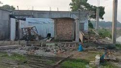 Kondisi pembangunan Asrama Yatim Dhuafa Pesantren Rumah Tahfidz Kiai Marogan Palemban