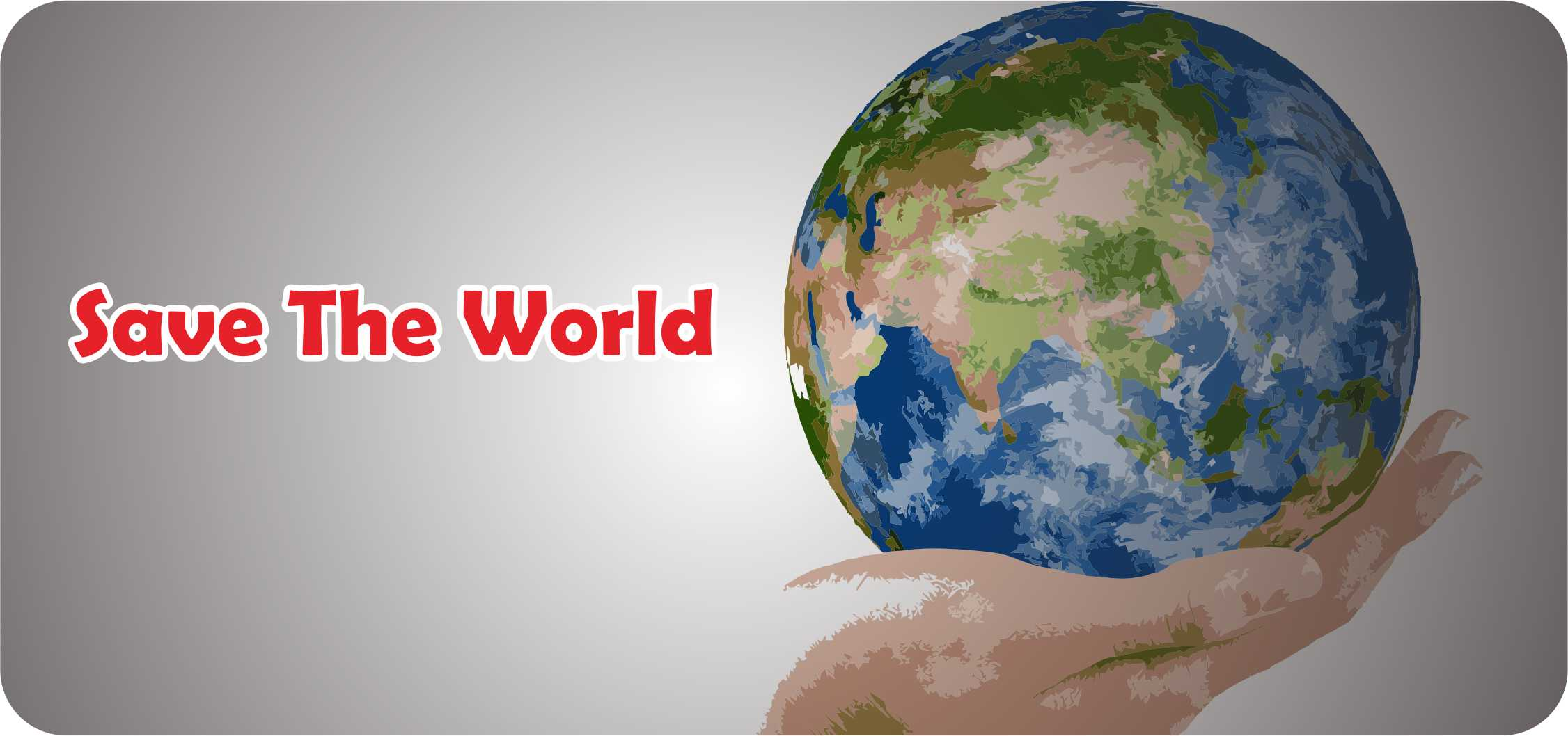 Ilustrasi Save The World-WI