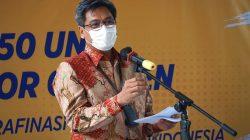 Plt. Direktur Jenderal Industri Agro pada acara Serah Terima 150 Unit Konsentrator Oksigen dari Asosiasi Gula Rafinasi Indonesia (AGRI) kepada Kementerian Perindustrian di Jakarta, Kamis (23/9