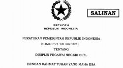 PP 942021 tentang Disiplin PNS