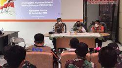 BNPB dan Satgas COVID-19 nasional melaksanakan kegiatan peningkatan kapasitas relawan prokes untuk mendukung PON XX di Papua, Sabtu (25/9