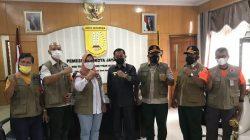 Para rombongan satgas prokes Pon XX Papua bertemu untuk melakukan koordinasi dengan pemerintah Kota Jayapura
