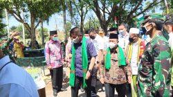 Kanwil Kemenag Sumsel meluncurkan Percepatan Vaksinasi Santri Pondok Pesantren se-Sumatera Selatan Tahun 2021 di Pesantren Sultan Mahmud Badaruddin II Palembang, Rabu (22/9)