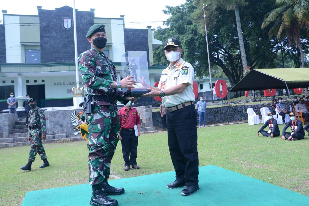 Pemkab Muba kali ini, yang mengikutsertakan perangkat desa pada bimbingan teknis teta kelola pemerintahan desa di Batalyon Infantri Raider 300, Kabupaten Cianjur Provinsi Jawa Barat, Rabu [22/9/2021].