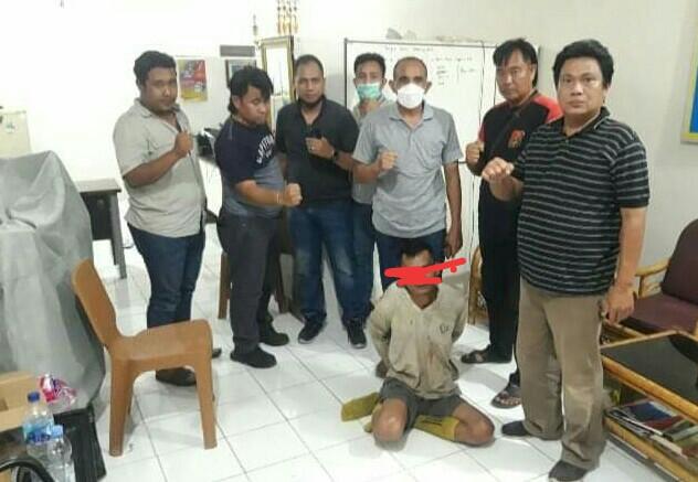 Buron lima tahun, perompak Sabrani alias OOK bin Lakoni [35] warga desa Bunga Karang Simpang PU RT 07, Kecamatan Tanjung Lago, Kabupaten Banyuasin, diringkus tim unit Intelpolairud Polda Sumsel pada Selasa 21 September 2021.
