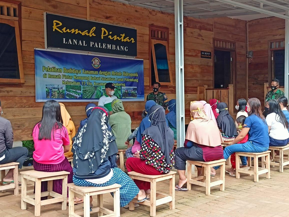 Lanal Palembang Adakan Pelatihan Budidaya Tanaman Hidroponik