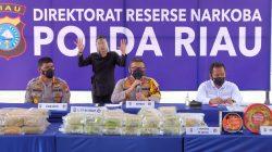 Polda Riau Bongkar Tujuh Jaringan Narkoba Asal Malaysia