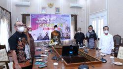 Walikota Palembang H Harnojoyo meresmikan Computer Security Incident Respons Team [CSIRT] Palembang, Kamis [21/10].