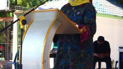 Septriana Tangkary SE MM selaku Direktur Informasi dan Komunikasi Perekonomian Maritim [Ditjen IKP] Kementerian Kominfo dalam sambutannya, Senin [4/10].