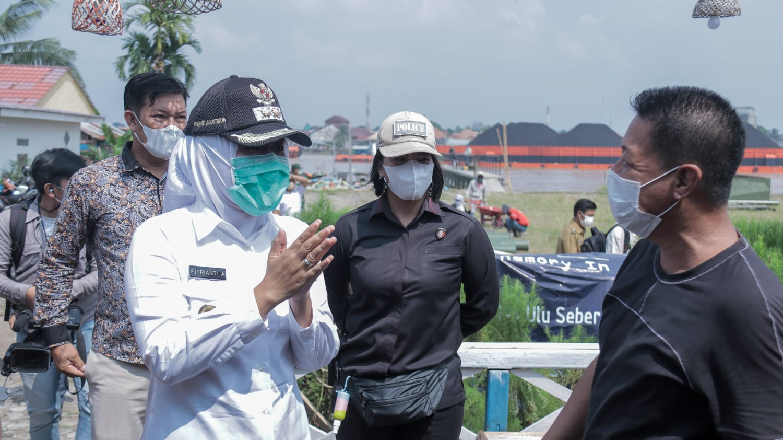 Wakil Walikota Palembang Fitrianti Agustinda lakukan kunjungan kerja ke Baba Boentjit, salah satu tempat wisata tertua di Kota Palembang.
