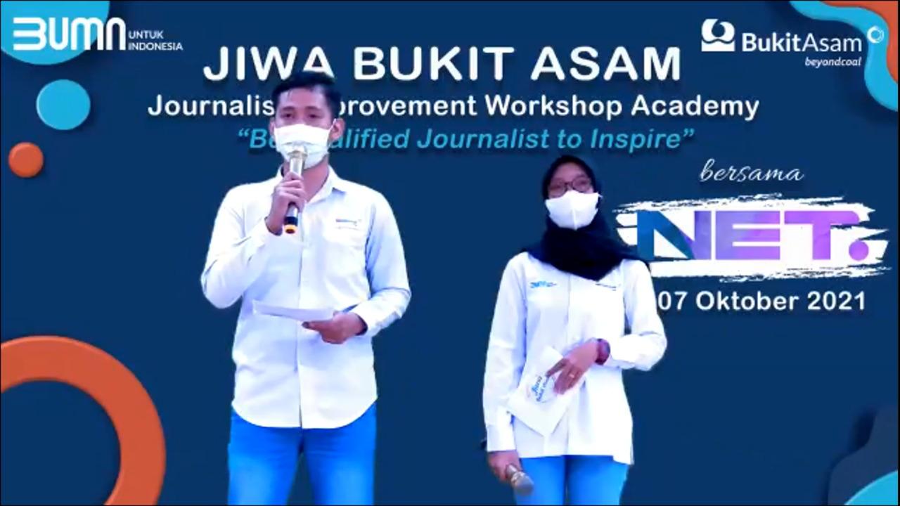 Virtual Workshop bagi insan Jurnalist yang diselenggarakan Satuan Kerja [Satker] Humas, Komunikasi dan Administrasi Korporat PT Bukit Asam Tbk