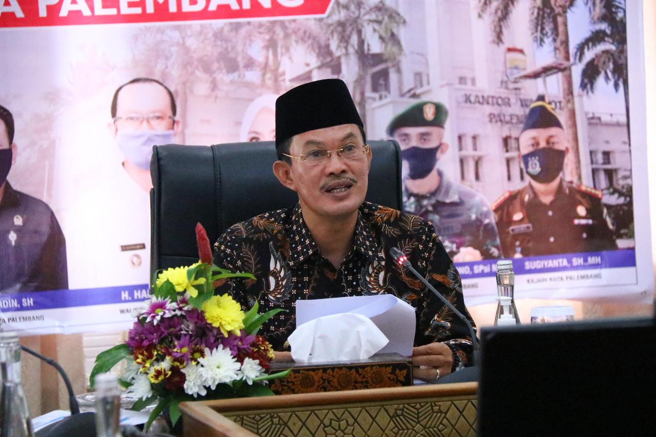 Walikota Palembang, H Harnojoyo paparkan rencana pembangunan Pasar Sekanak 28 Ilir bersama dinas terkait di Rumah Dinas Walikota, Jalan Tasik Palembang, Rabu [13/10].