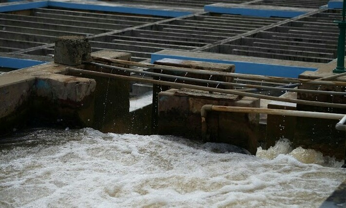 Kawasan vital tempat pendistribusian dan pemurnian air bersih PDAM Tirta Musi