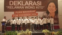 Relawan Wong Kito Deklarasikan Dukung Puan Maharani Capres 2024