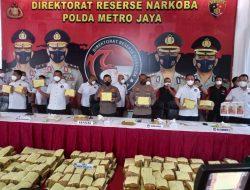 Polda Metro Jaya Gagalkan Penyelundupan 1,37 Ton Ganja
