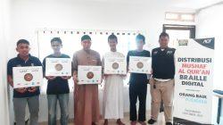 Kepedulian Aksi Cepat Tanggap [ACT] Palembang kembali dilakukan dengan mendistribusikan Al Quran Braille digital bagi Penyandang tunanetra.
