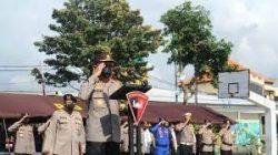 Kabaharkam Polri, Polri Komjen Pol Drs Arief Sulistiyanto MSi memimpin apel gelar sarana dan prasarana kesiapan pengamanan Conference of the Parties (COP-4) dan Presidensi G20 Tahun 2022 di Lapangan Iptu Soetardjo Mako Satbrimob, Tohpati, Denpasar, Bali, Kamis